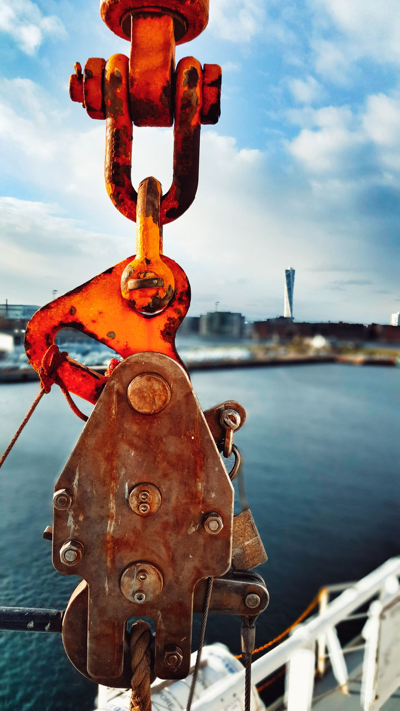 Rusty Shackles Twisted Tower Twisted Torso Malmö, Sweden Ship At Dock Shiplife Outdoors Architecture Built Structure Traveldiaries Taking Photos Eyeem Photography EyeEm Gallery Stayonboard Taking Pictures Enjoying The View