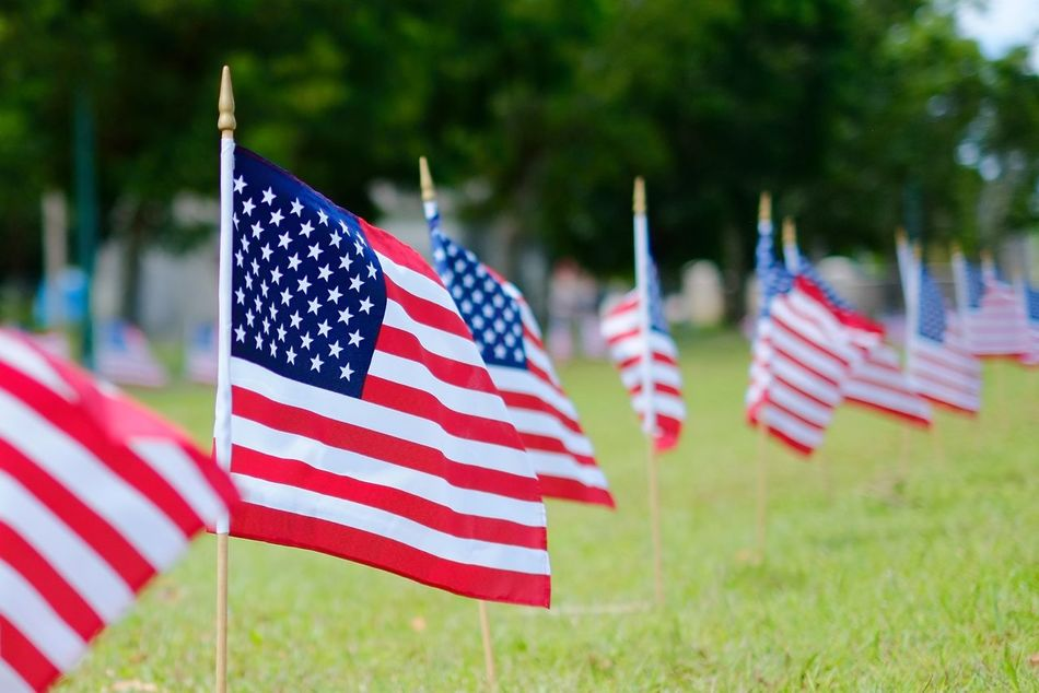 Beautiful stock photos of memorial day, American Flag, Close-Up, Day, Field