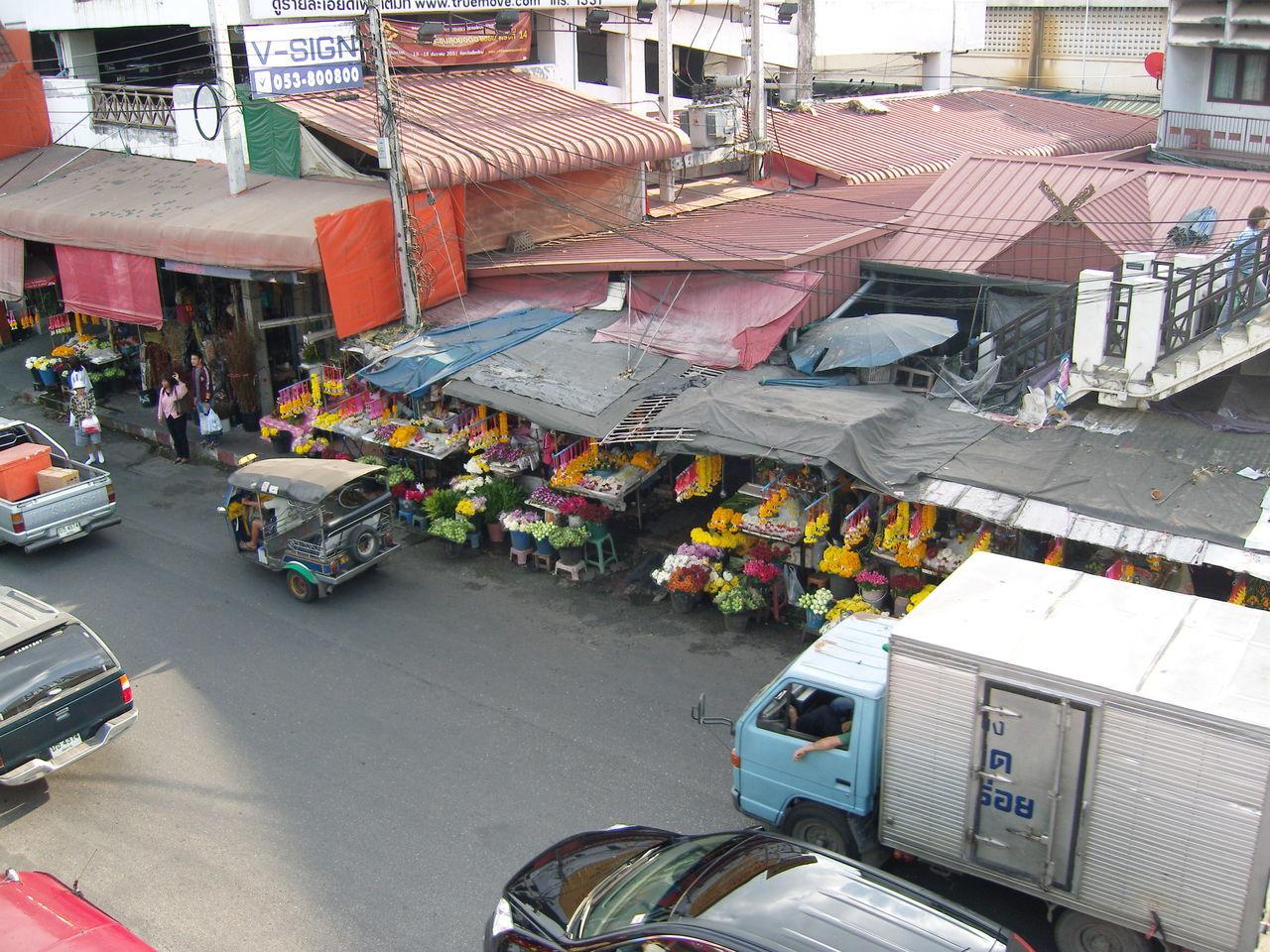 High Angle Thai Street High Angle View Street From Above Street Scene From Above Thai Roof Thai Street Market Thailand From Above Thailand Street Tuc Tuc