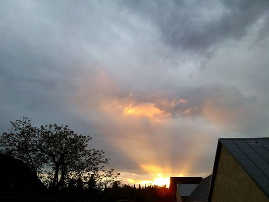 look at this sky!  at Bendorf by Gaby