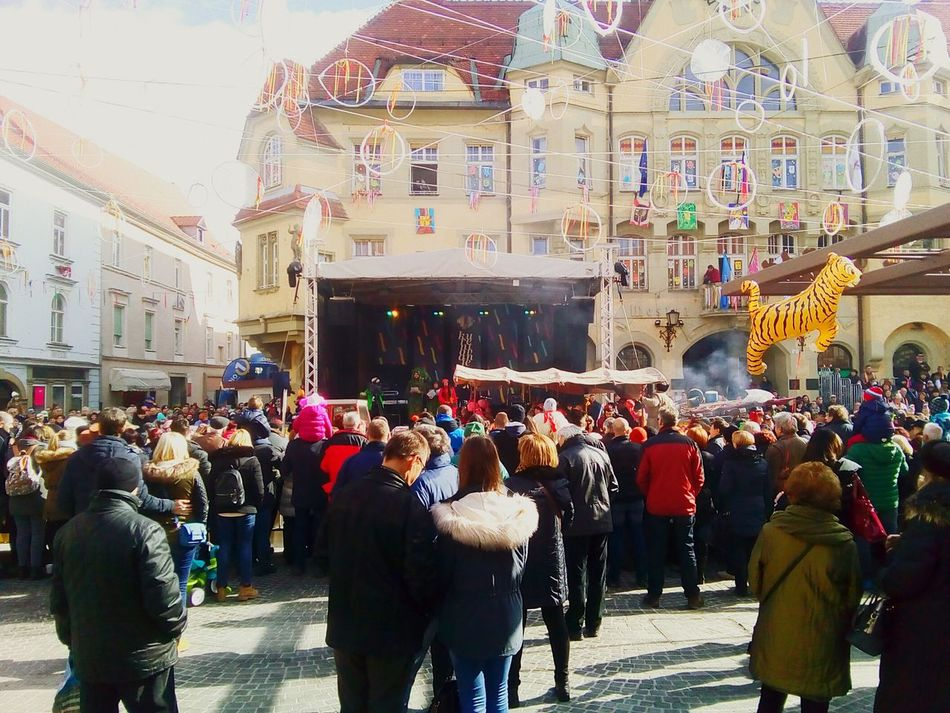 Large Group Of People Architecture Crowd People Day Men Women Slovenia ❤ Carneval