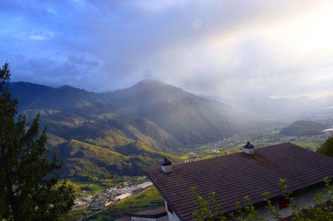 Piancogno Luci Rainbow Arcobaleno  Montagne Mountains Cielo Brescia Italy Italia Verde Green