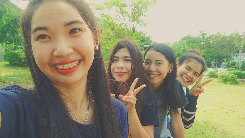 My friend Friendship Day Child Standing People Smiling Tree ยิ้มทีหน้าบาน First Eyeem Photo Only Women คิดถึงจัง คิดถึงทุกรอยยิ้ม Thailand