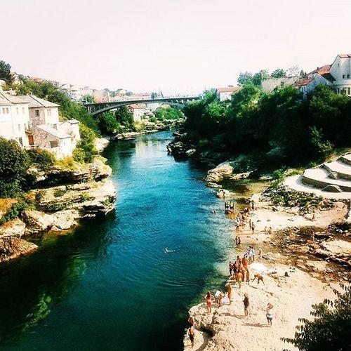 River Neretva Beautiful Mostar City Memories Holiday Summer2015 Instapicture Instasummer