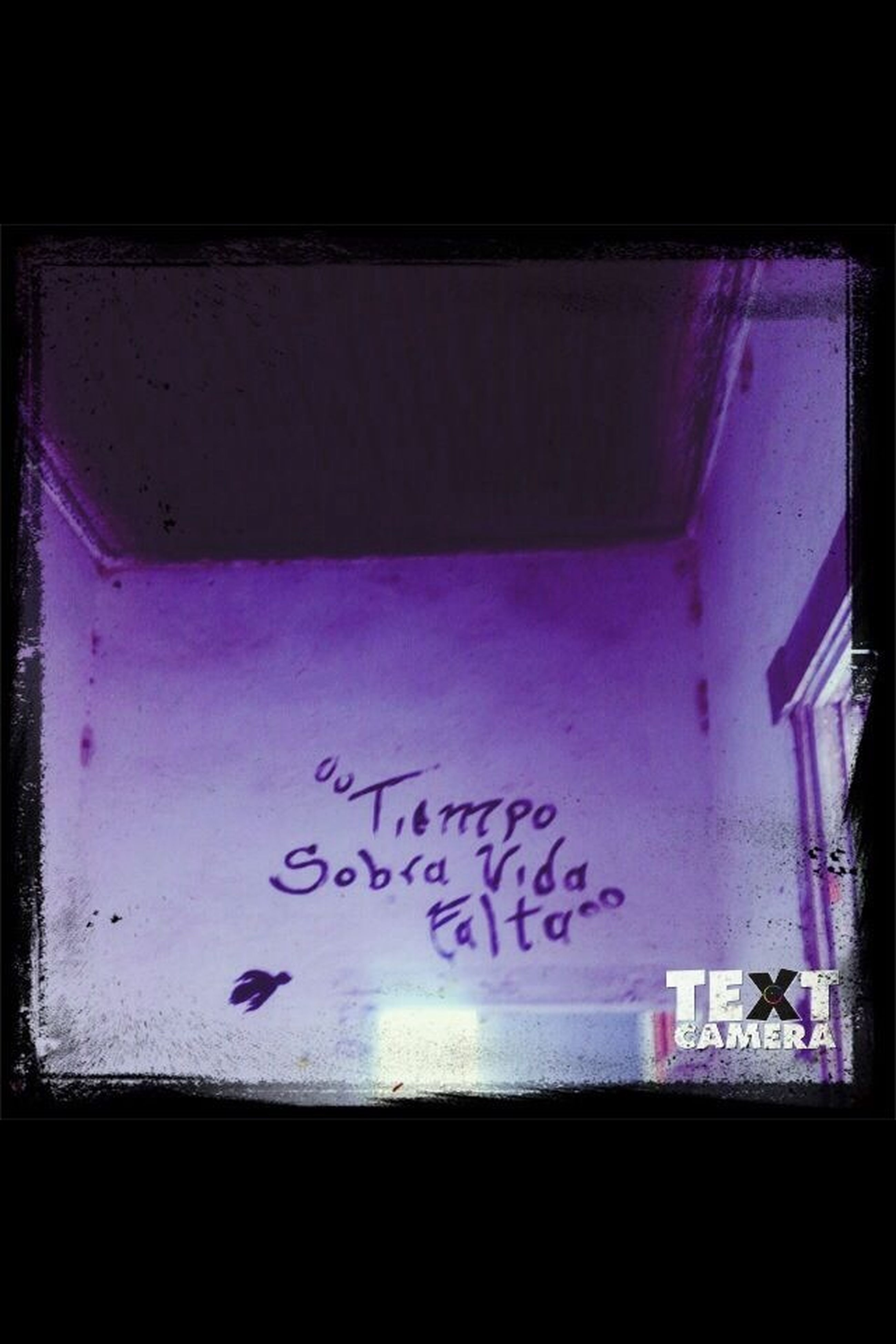 text, western script, transfer print, communication, indoors, auto post production filter, graffiti, blue, wall - building feature, close-up, capital letter, wall, message, creativity, art, built structure, no people, paper, architecture, glass - material