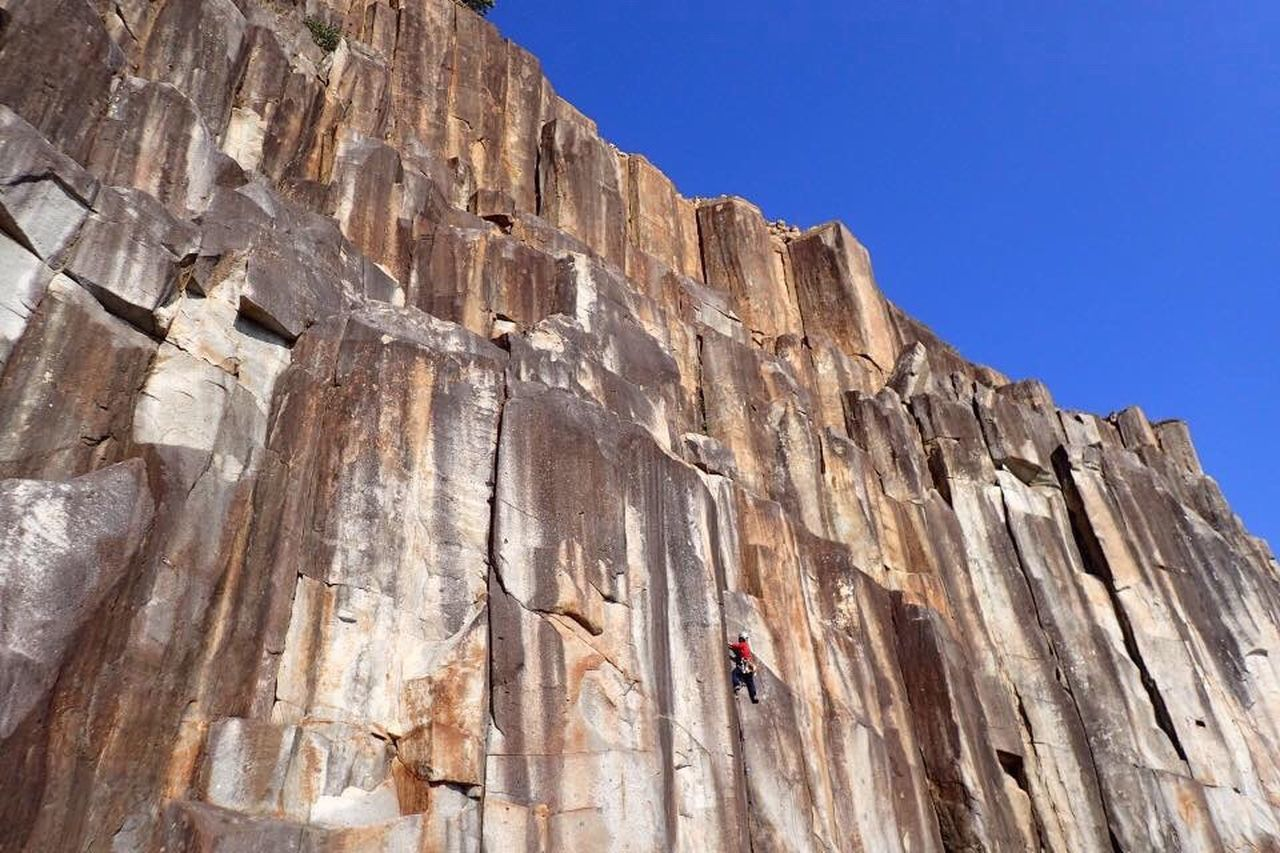 rock - object, rock climbing, cliff, mountain, climbing, steep, extreme sports, sport, nature, rock face, adult, one man only, outdoors, day, people, one person, athlete, adults only, only men