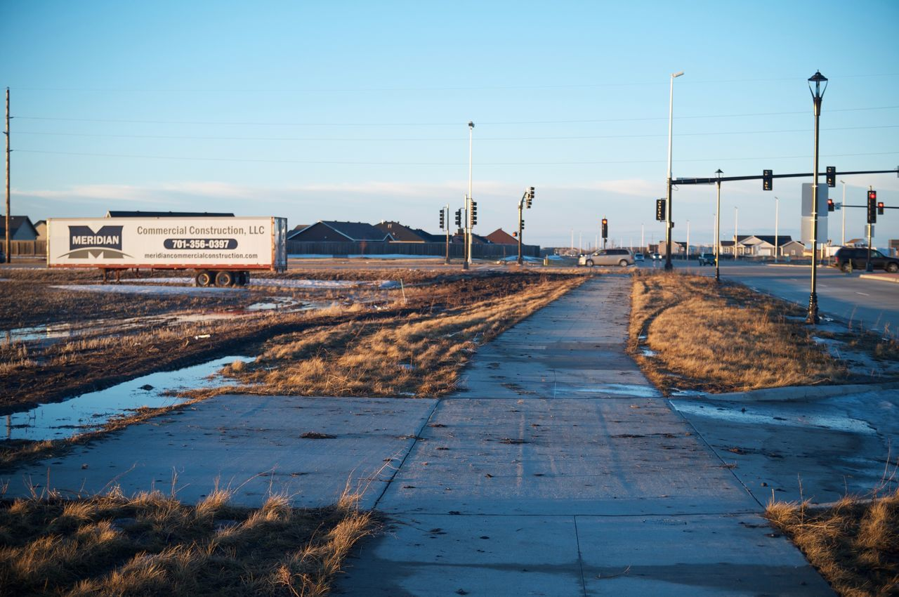 Fargo, North Dakota / February 19, 2016 Connection Diminishing Perspective Engineering Environmental Conservation Fargo Footpath Horizon Over Water Incidental People Jetty Leading Long North Dakota Outdoors Railing Sea Sidewalk South Fargo The Way Forward Walkway Water