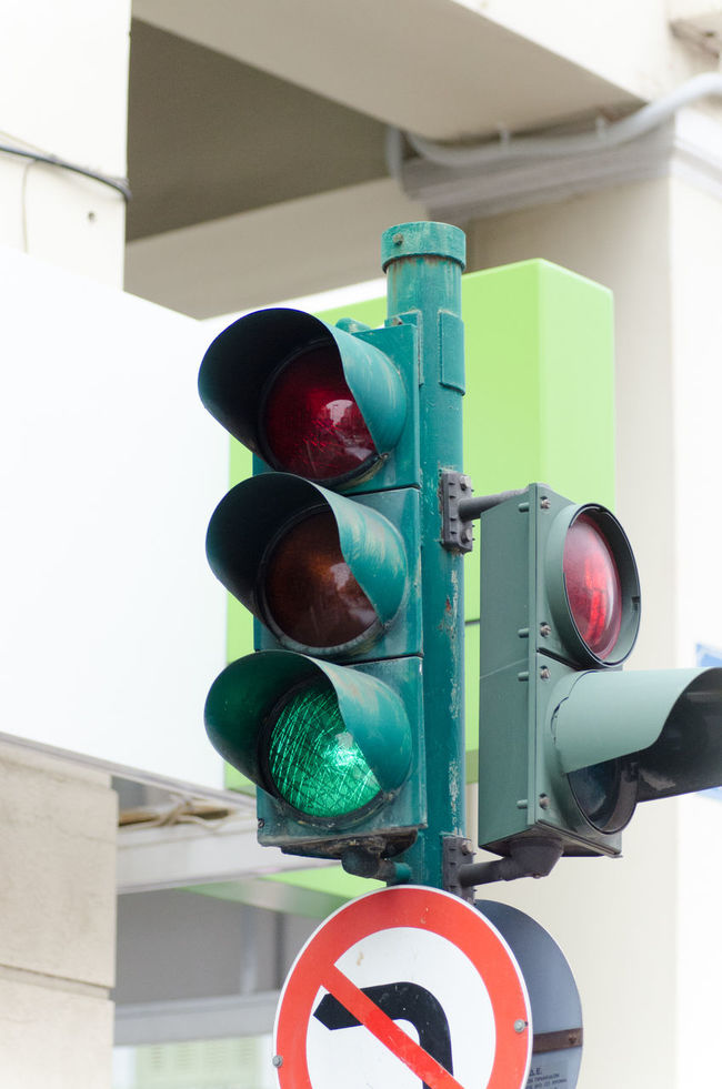 Traffic lights 2 Allow Traffic Built Structure City City Life Close-up Day Focus On Foreground Green Outdoors Traffic Lights