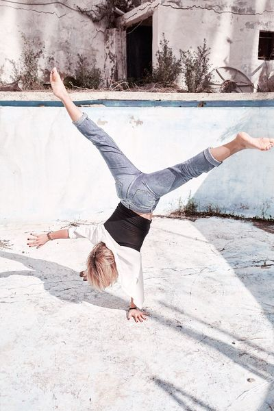 Balance Exercising Full Length Stretching Dancing Healthy Lifestyle Teenager Vitality Upside Down One Person Flexibility Motion Ballet Lifestyles Skill  Ballet Dancer Relaxation Exercise Arms Raised Gymnastics EyeEmNewHere