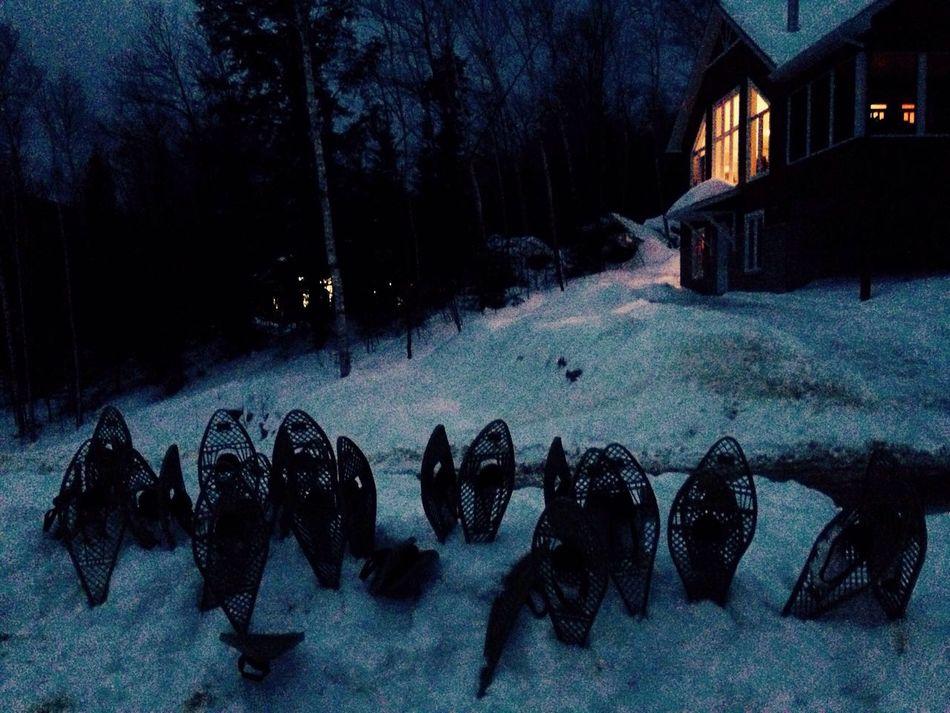 Rawdon Raquette Nuit Noche Canada Chalet Lumière Taking Photos Enjoying Life Relaxing Nature Neige ❄️