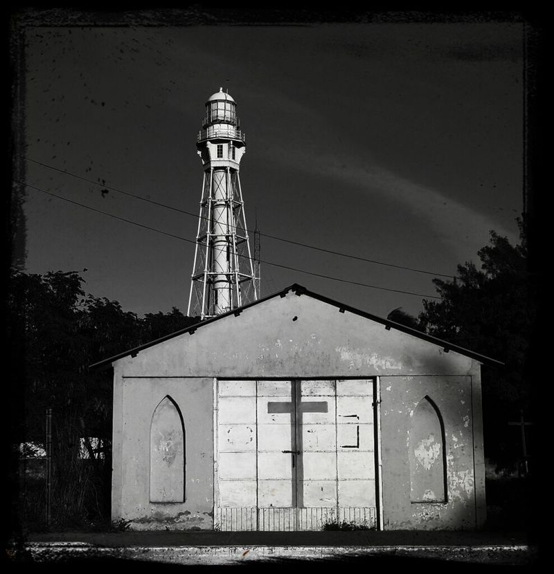 Antiguo Faro y Capilla Blackandwhite Photography Mobilephotography Monochrome Walking Around
