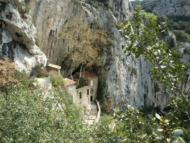 Gorges De Galamus Cave Entrance Cave House Cave Monastery Cliffs And Trees Cliffs Nature Found On The Roll What's On The Roll Takeover Contrast Urban Exploration France Photos France Streets France Taking Photos Nature On Your Doorstep Nature Photography Architectural Detail Architecture Landscape Landscape_photography Hidden Gems  Hidden Places Dramatic Angles