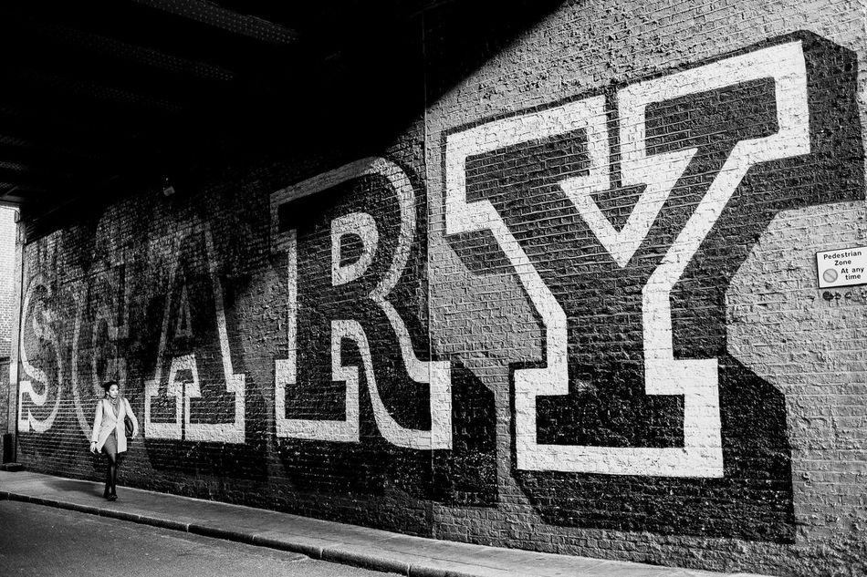 Scary Black & White Blackandwhite Graffiti Hipster Hoxton London Street Street Photography Streetphotography
