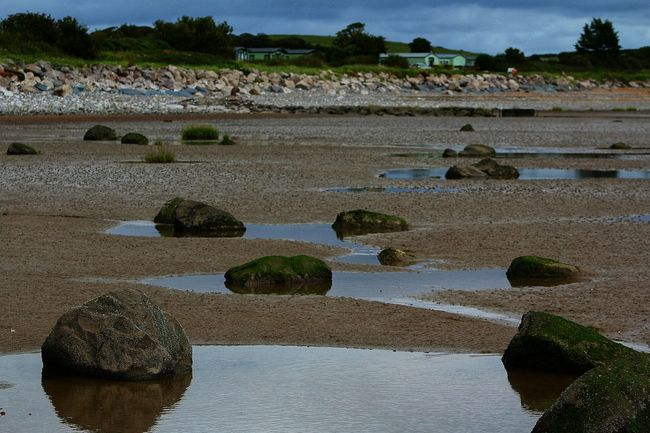Reflective Pool On The Beach Rocks Water Lake District Mirrored Reflection This Weekend Having Fun