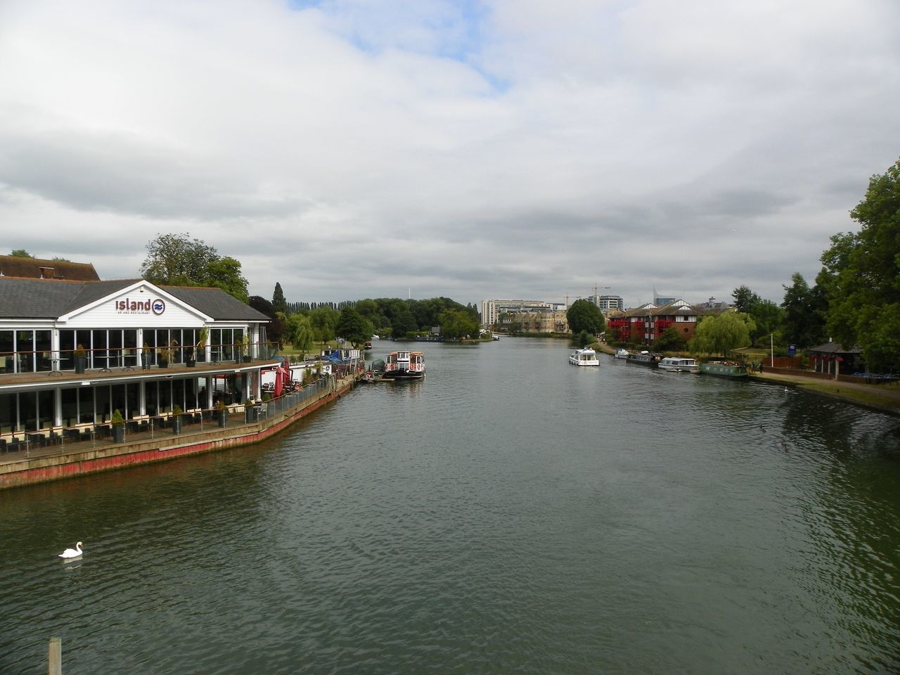 Caversham Caversham Bridge Water Sky Building Exterior Architecture Built Structure Nautical Vessel Mode Of Transport Tree Waterfront Outdoors Transportation Nature Cloud - Sky Beauty In Nature Day Scenics No People