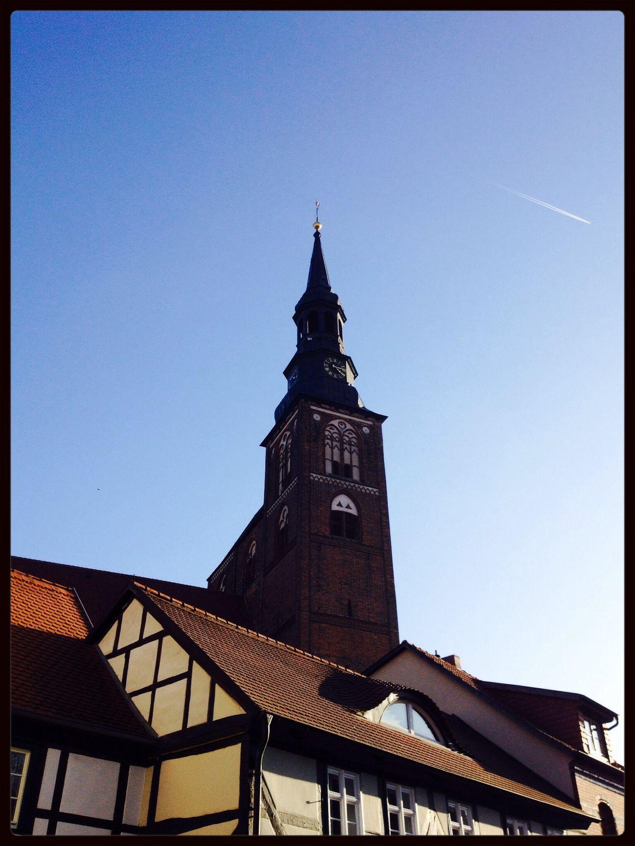 Church Blue Sky Brick