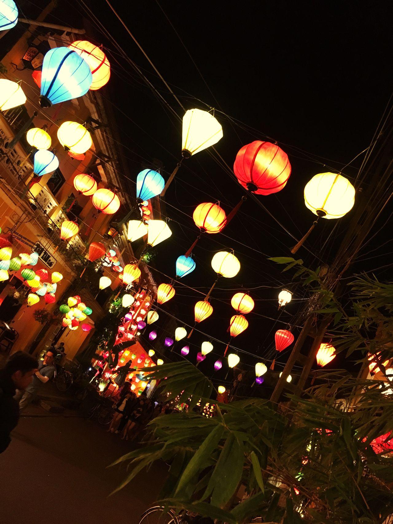 Illuminated Night Lantern Travel Vietnam Hoi An