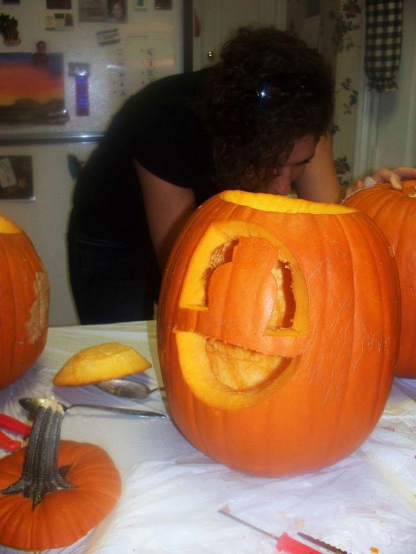 Anthropomorphic Face Freshness Halloween Home Interior Illuminated Indoors  Jack O Lantern Night No People Orange Color Pumpkin
