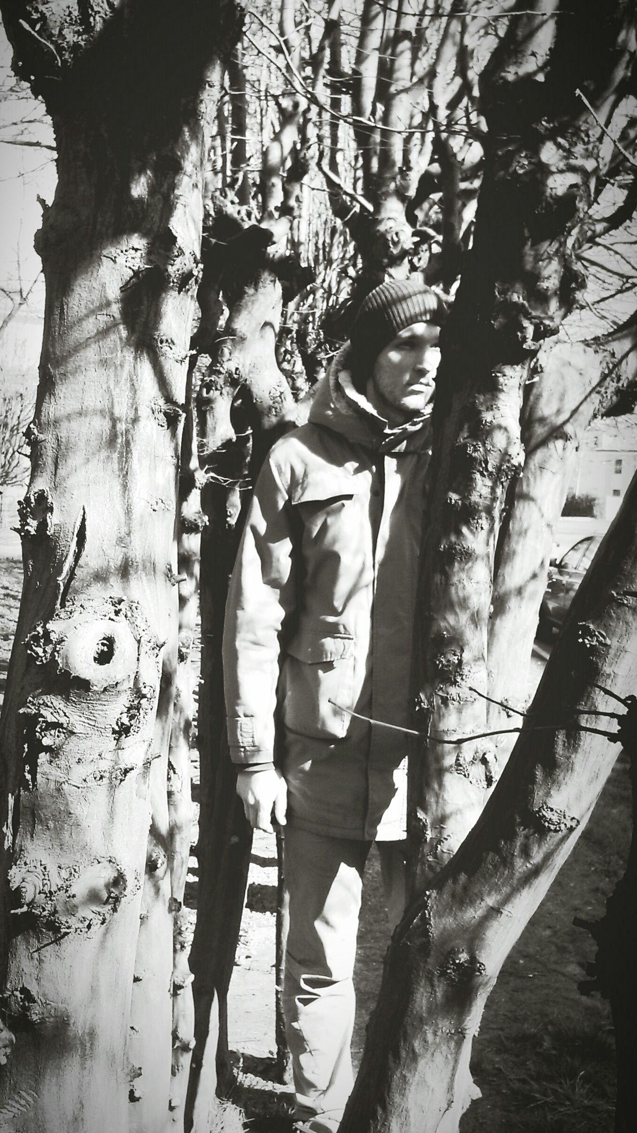 My Man B&w Portrait Blackandwhite Trees