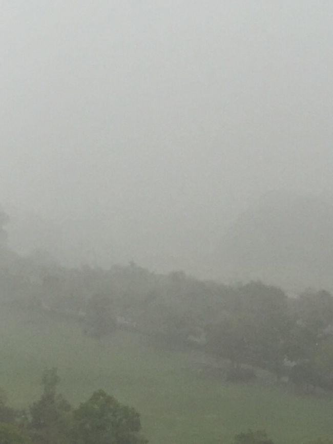 A typhoon Fog Beauty In Nature Nature Heavy Rain rice field Mountain Sky Non-urban Scene Water Majestic Holidy Railing Rainy Weather Rain Clouds rain sound