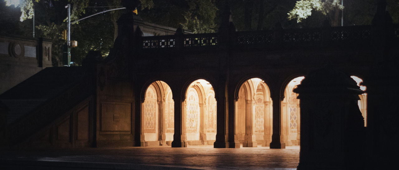 The warm lights of Bethesda Terrace Arcade welcome the night-time sightseers on a crisp, September evening. Bethesda Bethesda Terrace, Central Park, NYC Bethesda Terrace Central Park Central Park - NYC New York City New York, New York Night Photography Arch Architectural Column Architecture Bethesda Arcade Built Structure Light And Shadow Night No People Outdoors Tourism Warm Warm Colors Warm Light