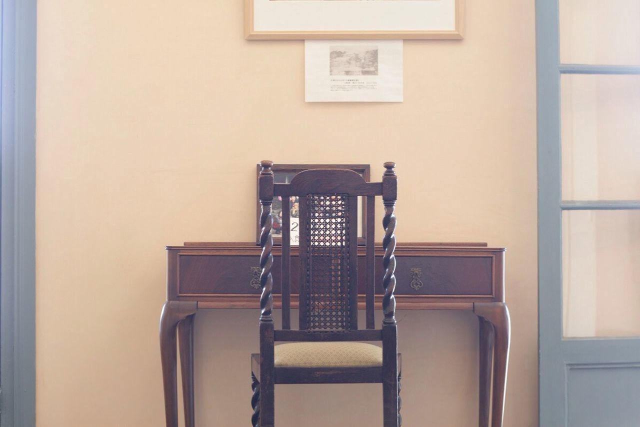 chair, indoors, built structure, no people, architecture, day