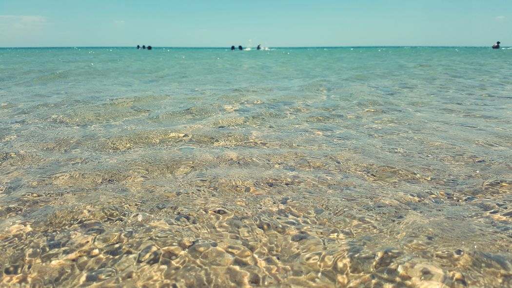 Sea And Sky Sea Water Blue Water Blue Water Blue Sky Clear Water Tunisia Nabeul
