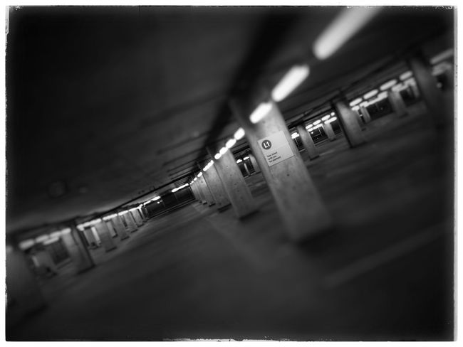 Empty parking garage. Iphone 5 Photography Photo Of The Day Garage Night