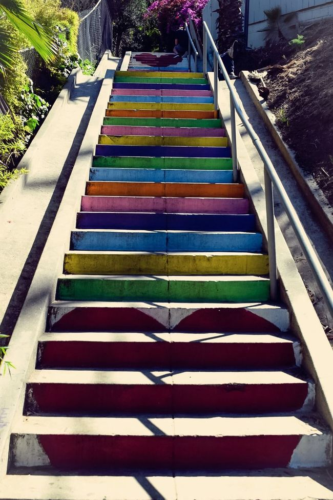 The stairs Telling Stories Differently Stairs Steps And Staircases Heats Love Check This Out Taking Photos Urban Landscape TheWeekOnEyeEM Losangeles Silverlake Smile EyeEm Best Shots Outdoors Sidewalk Art
