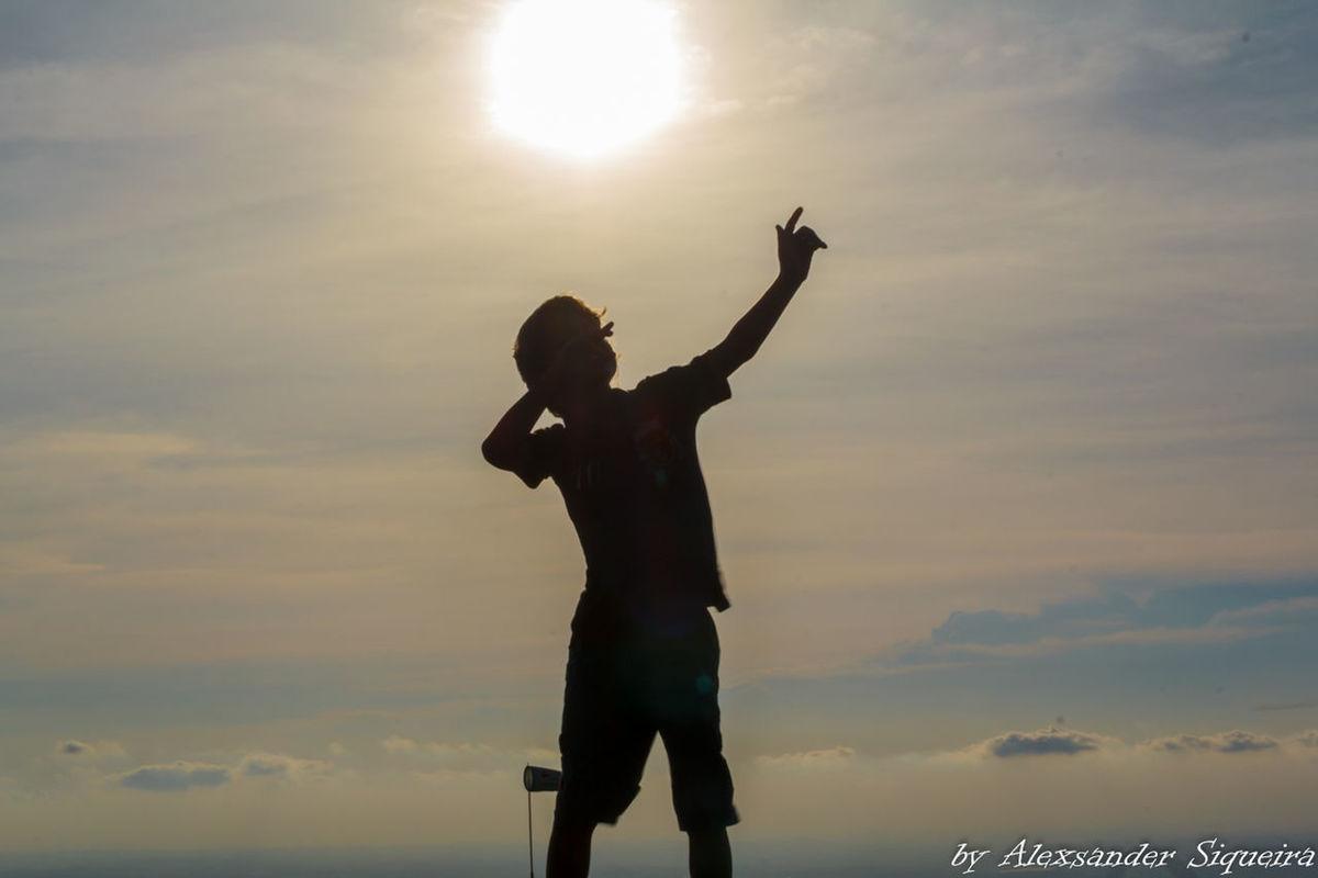 Filho Nature Pico Do Urubu Por Do Sol Silhouette Silueta Sunset