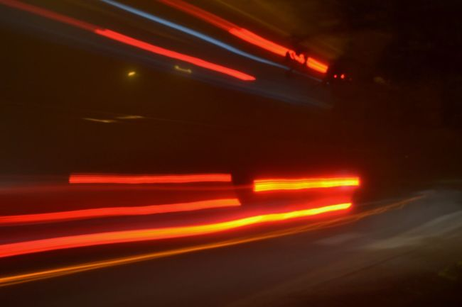 Long Exposure Notions On The Move Orange Color Speed Trailblazers_rural Trainé Light Transportation