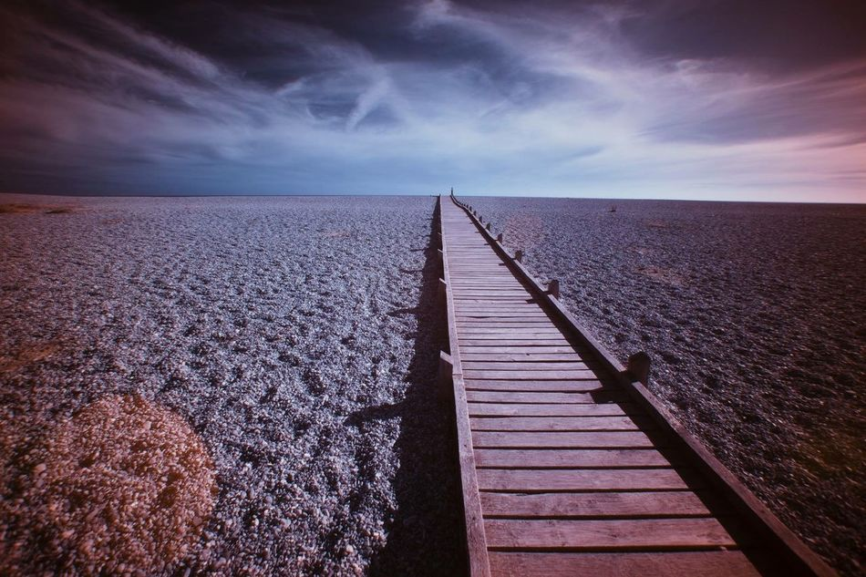 Leading line Beach Photography Leading Lines Infra Red Colors Blue Sky Kent Dungeness Canon 5d Mark Lll 17mm Landscape Photography