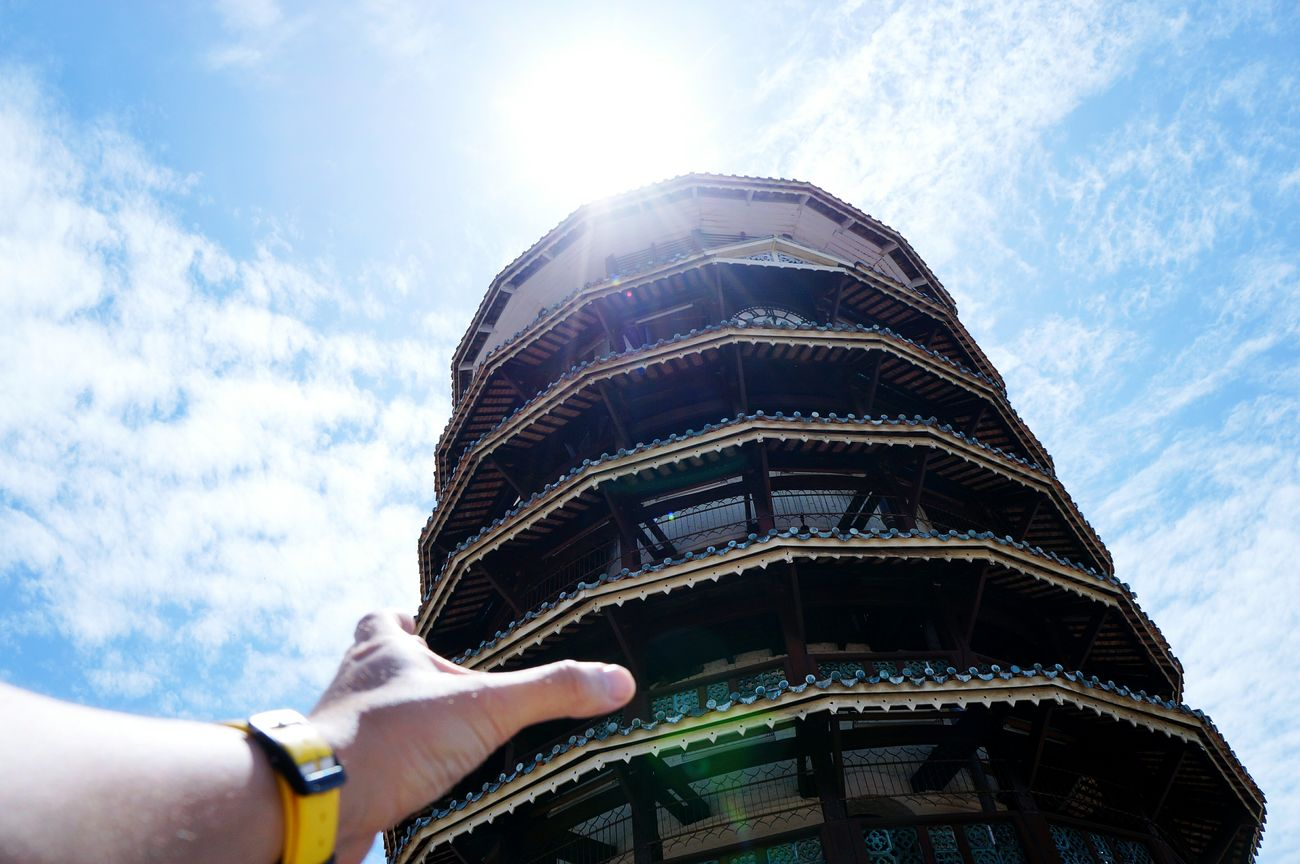 Grab it!! Leaning Tower Of Teluk Intan Teluk Intan Tower The Great Outdoors - 2016 EyeEm Awards The Architect - 2016 EyeEm Awards Open Edit Taking Photos Hand Hands At Work Architecture Heritage