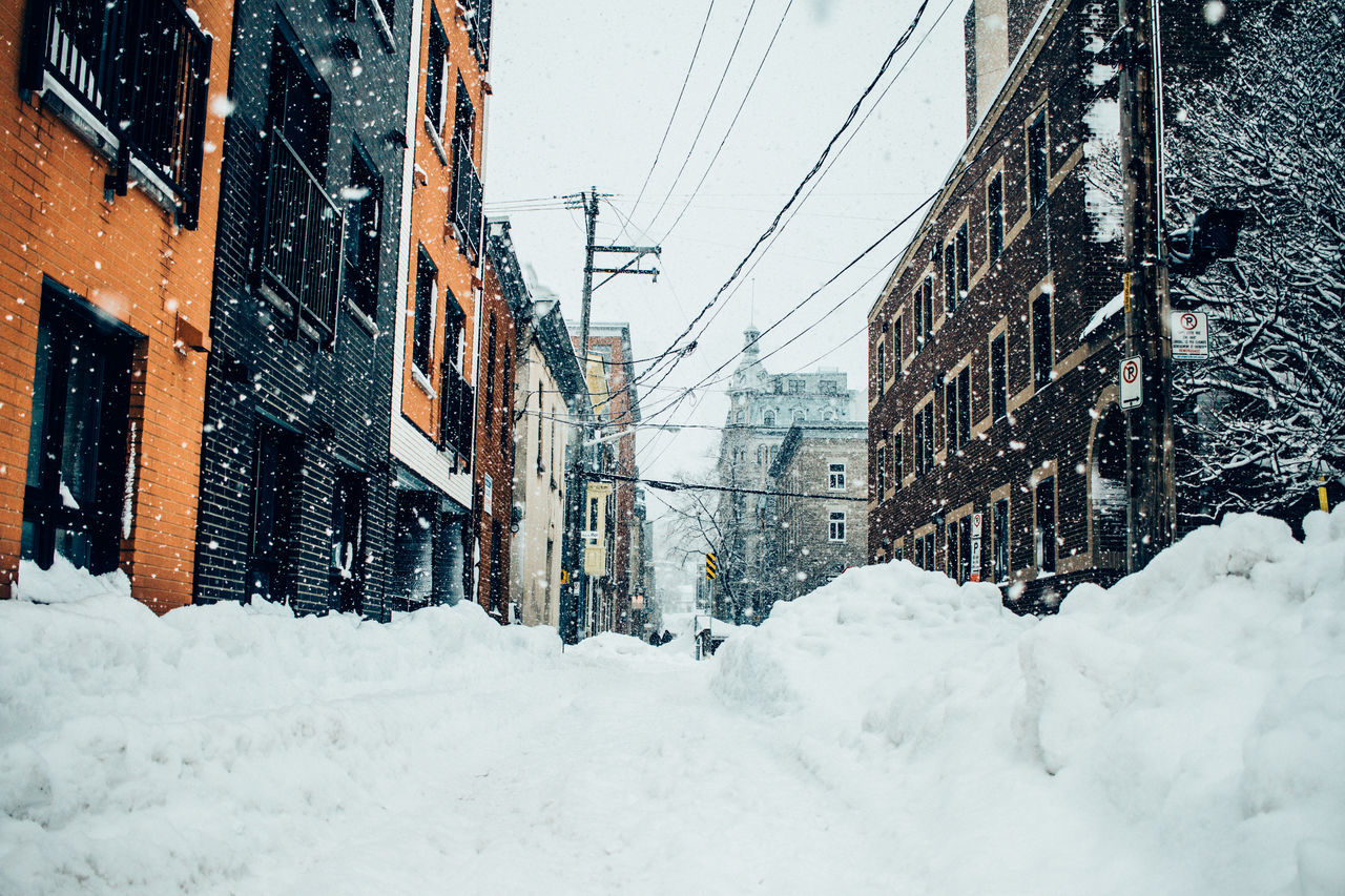 Snow Storm in Québec Can Japan March Nature Quebec Quebec City Snow ❄ Snowing Storm Street Temple