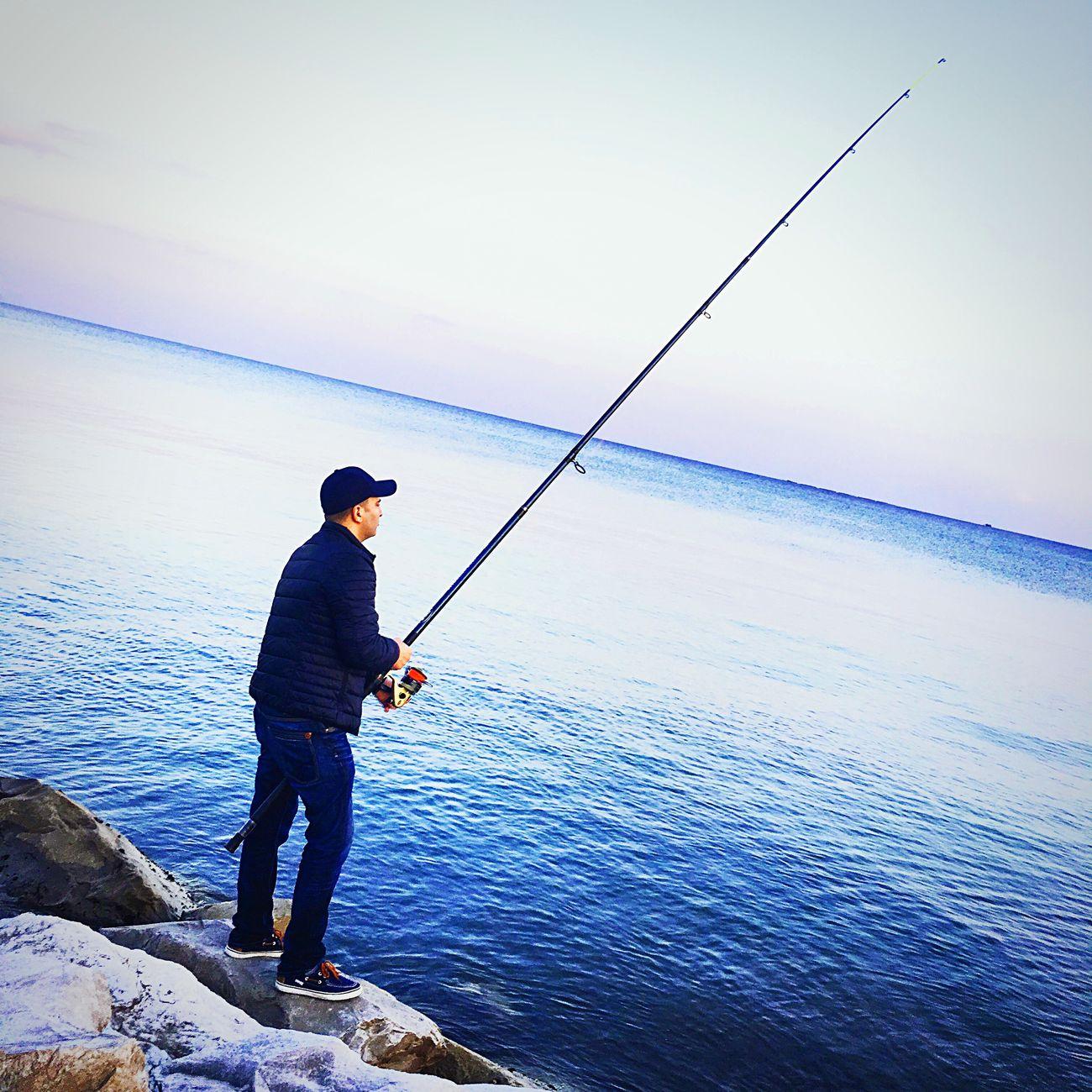 Fishing Passing Time Seaside Manvsnature  Enjoying Life