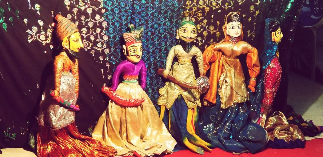 stories to tell IndiaTrip Hyderabad Shilparamam Arts Culture And Entertainment Art Art And Craft Colourful Puppets Puppet Show EyeEm Selects Indoors  No People Multi Colored Sculpture Close-up