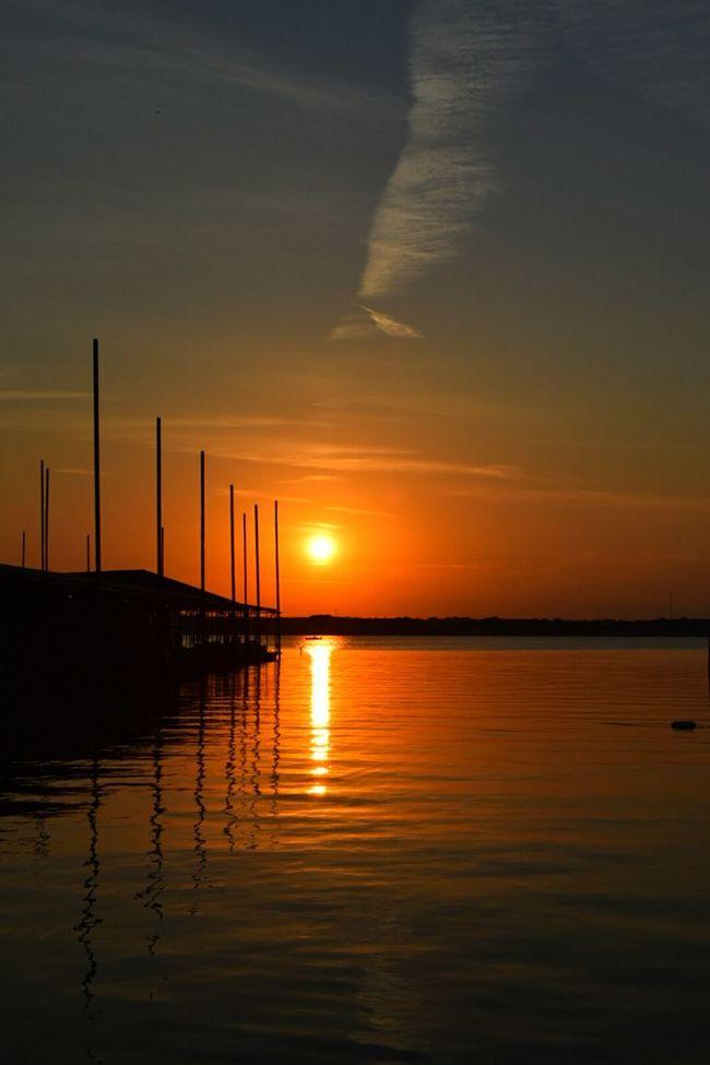 Sunset on the docks Beautiful Surroundings View Lake Relaxing Photography Lake Texoma First Eyeem Photo