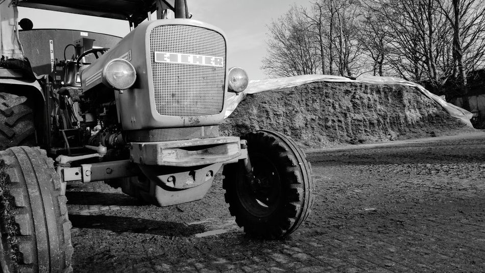 Smartphonephotography Smartphone Photography Eicher Trakor Agriculture Historic Land Vehicle Tire Outdoors Day No People