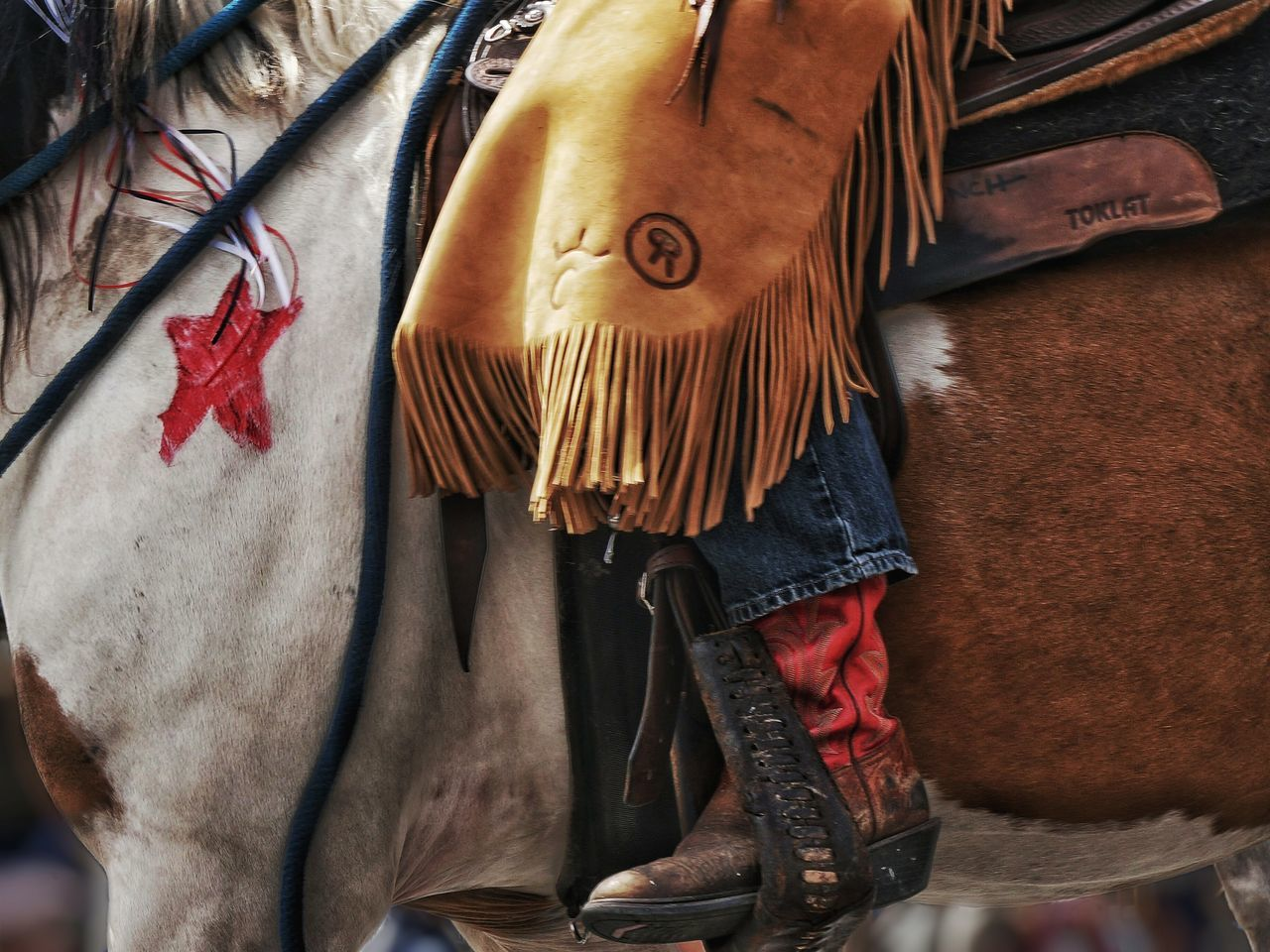 horse rider detail. Colour Of Life Horse Riding Stirrup Close-up Horse Painted Boots Leather My Year My View