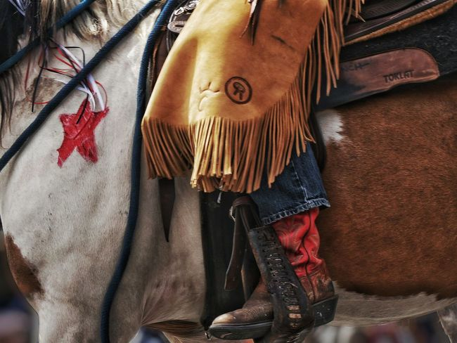 horse rider detail. Colour Of Life Horse Riding Stirrup Close-up Horse Painted Boots Leather