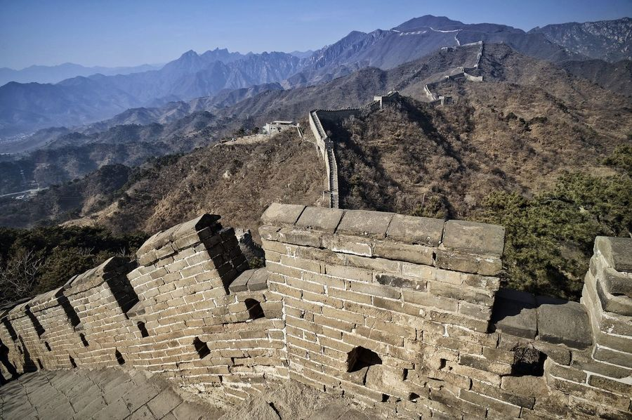 Great Wall Great Wall Of China Winter Ancient Ancient Civilization Archaeology Architecture Building Exterior Built Structure Cold Cold Temperature Direction History Mountain Mountain Range Nature No People Old Ruin Outdoors Steps The Past Tourism Travel Travel Destinations Way Down