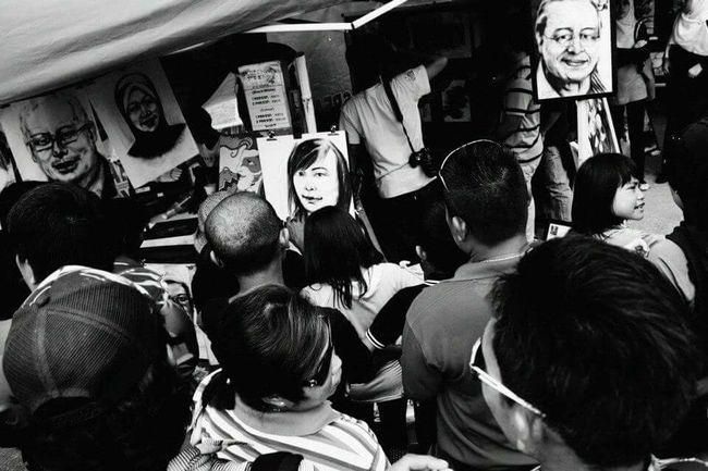 The Street Photographer - 2015 EyeEm Awards Street Photography Bintulu Sarawak Jpcbintulu Bintulu Monochrome Blackandwhite