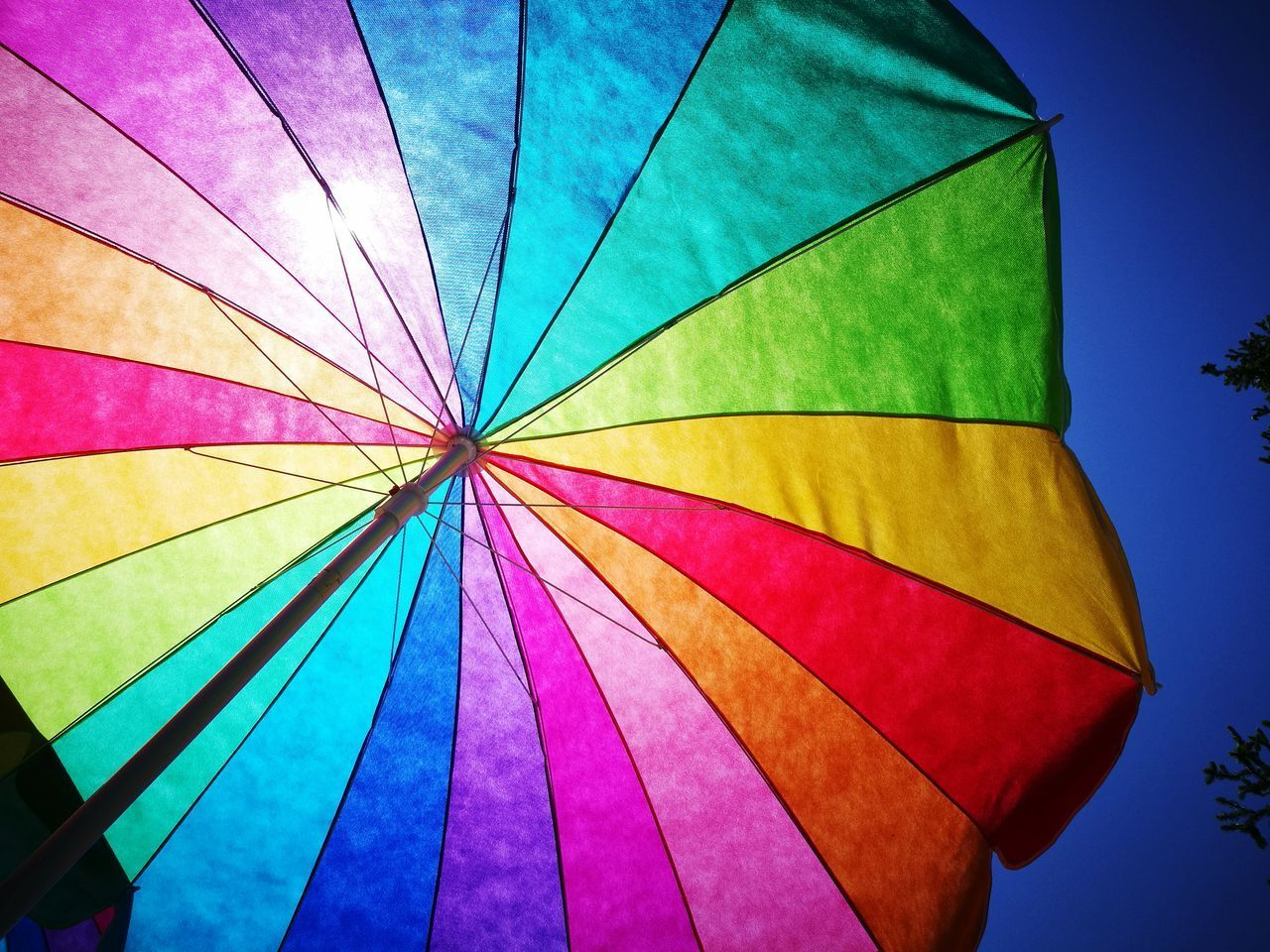 multi colored, colorful, protection, low angle view, no people, outdoors, blue, day, close-up, sky