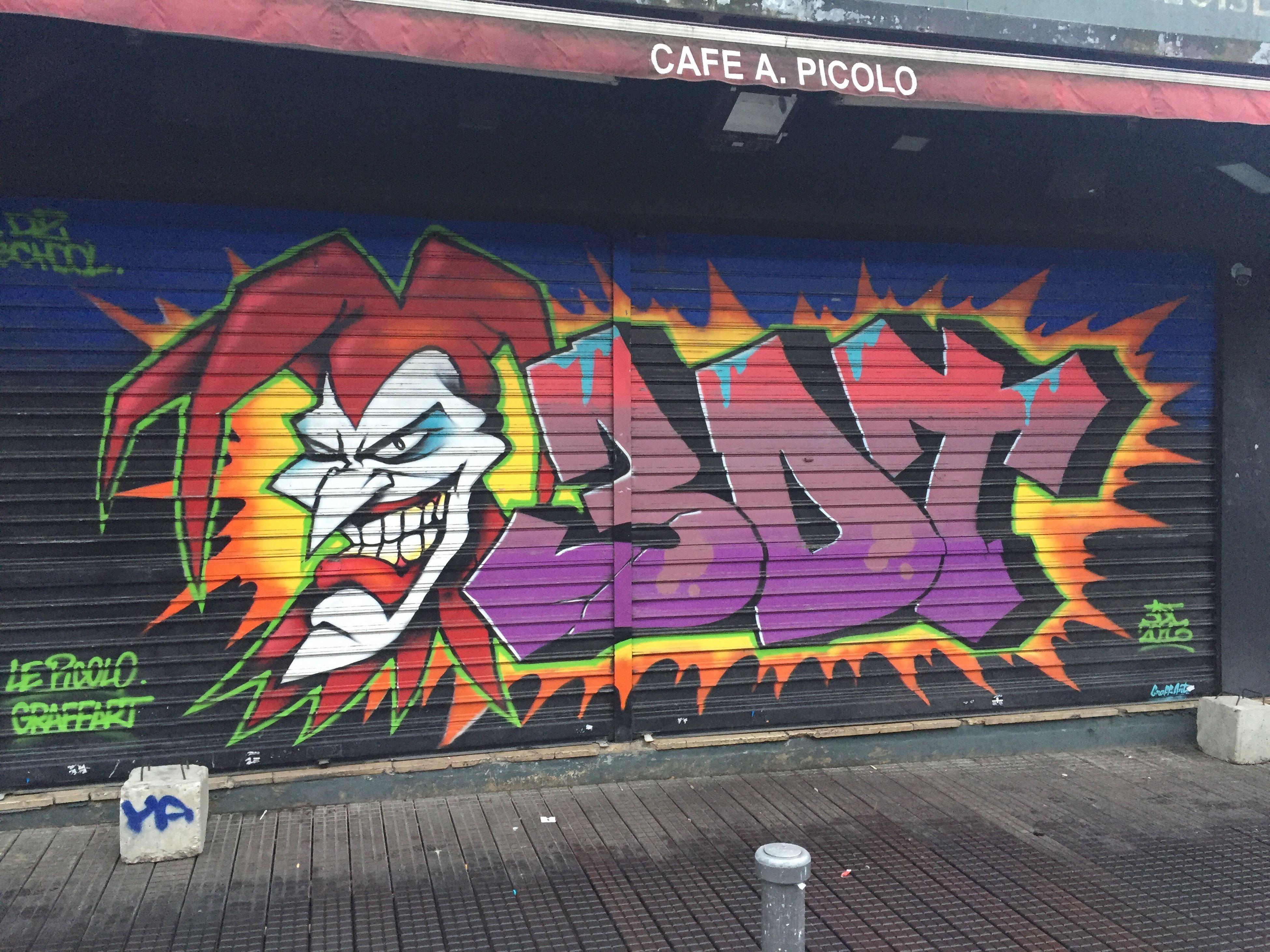 Back to paris Clignancourt marché aux puces Joker Joker Smile Graffiti Art And Craft Creativity Human Representation No People Text Built Structure Architecture Outdoors Day Building Exterior Clignancourt Marché Aux Puces