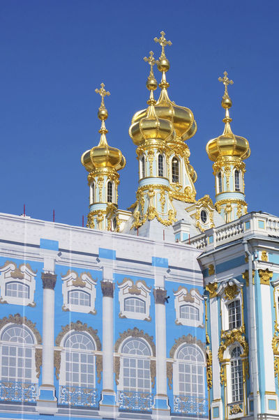 2014 Catherine Palace CatherinePalace Russia Saint Petersburg サンクトペテルブルク Sky Gold Architecture エカテリーナ宮殿 ロシア