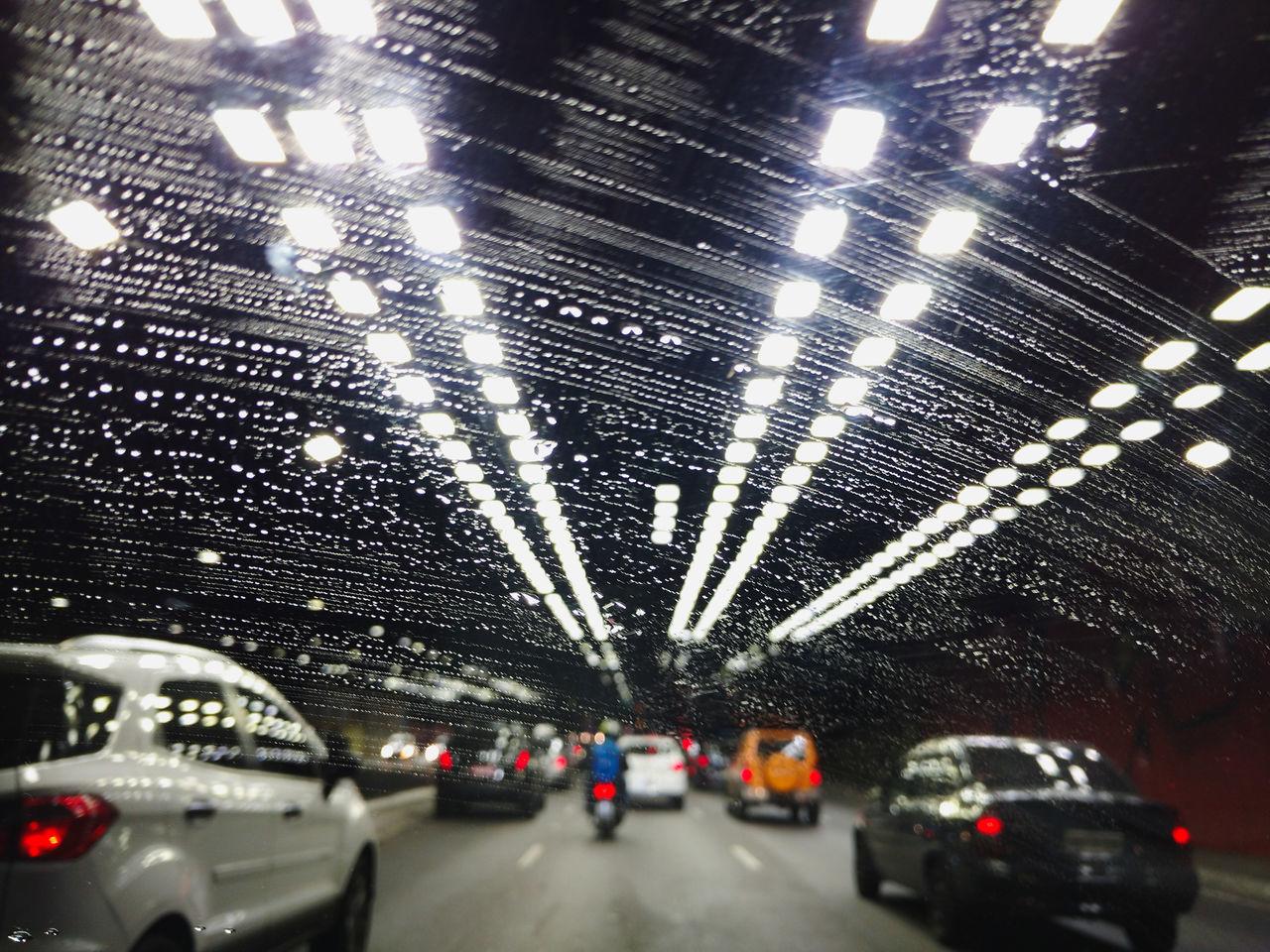 car, transportation, illuminated, land vehicle, mode of transport, lighting equipment, indoors, night, real people, architecture, close-up