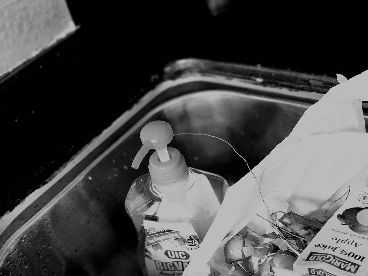 BRACKET Dishwasher Dishwashing Soap No People Old-fashioned Nautical Vessel Close-up Indoors  Day Egg Shell Egg Shells Experimental Monochrome Monochrome Photography Black Blackandwhite Black And White Bracket Kitchen Kitchen Things Kitchen Sink Sink Dish Rubbish Leaves