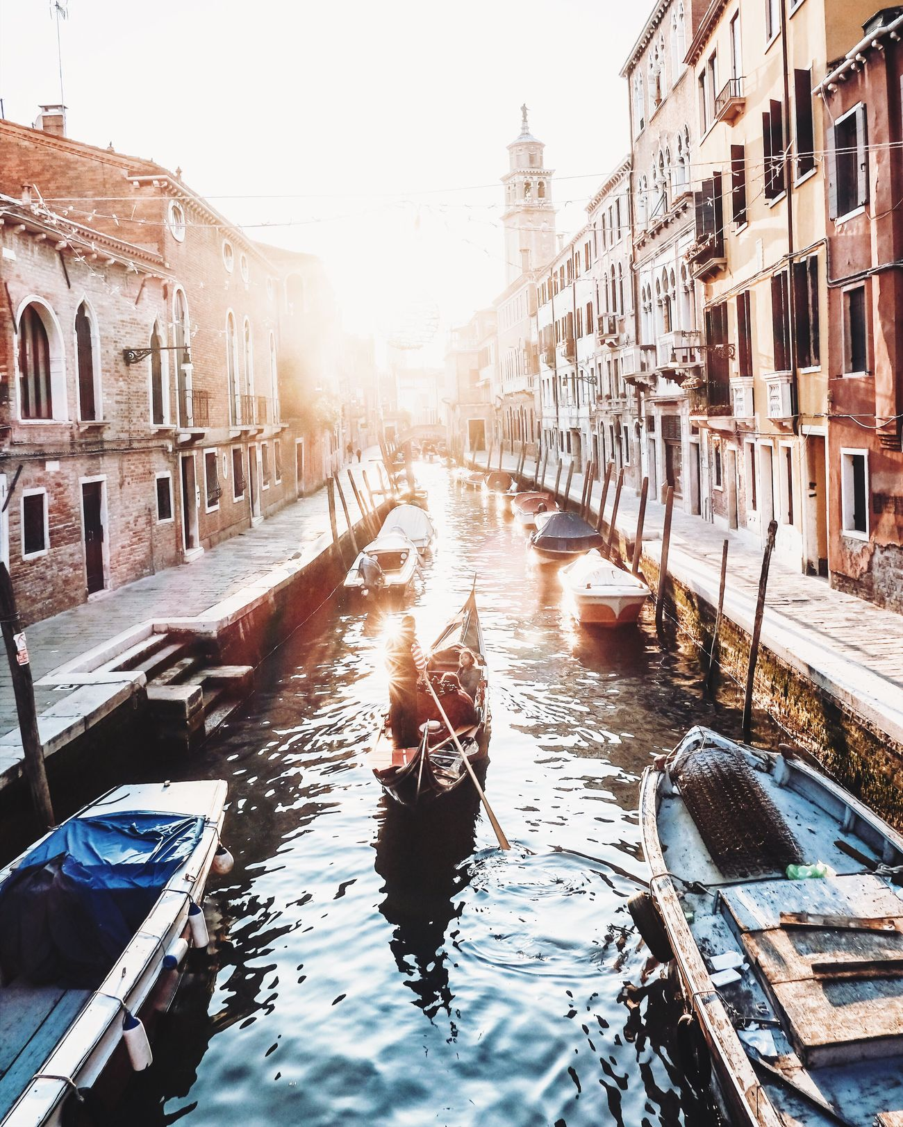 Modern paintings of Venice People Travel Destinations Gondolier Cultures Gondola - Traditional Boat Canal Adult Building Exterior Adults Only Architecture Outdoors City Break One Person City Vacations Rowing One Man Only Young Adult Day Only Men