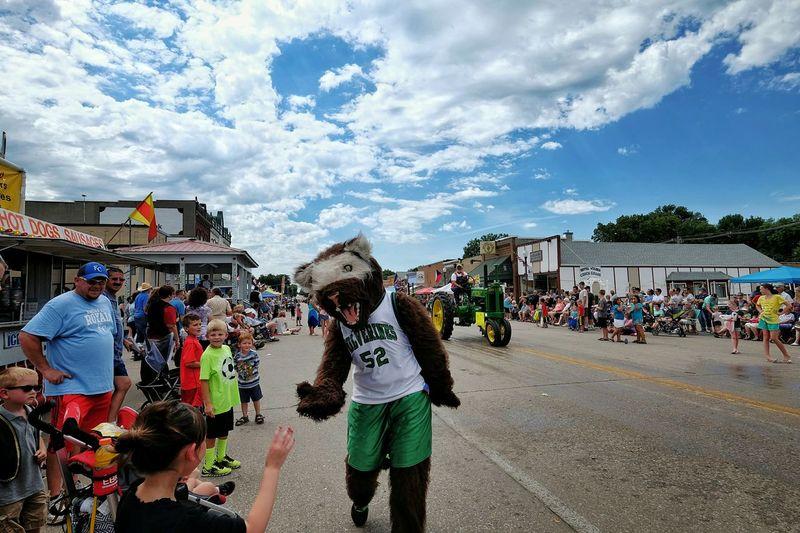 Czech Festival Mascot Parade High Five