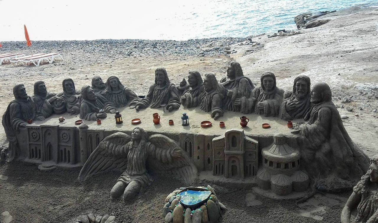 Sand Sculpture - Tenerife Day Beach Sand Sculpture Sculptures By The Sea Sandy Beach Tenerife Teneriffa Tenerife Holiday❤😎🛫🛫 Warm Leisure Activity OA